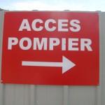 Les accès pompiers doivent être toujours libres