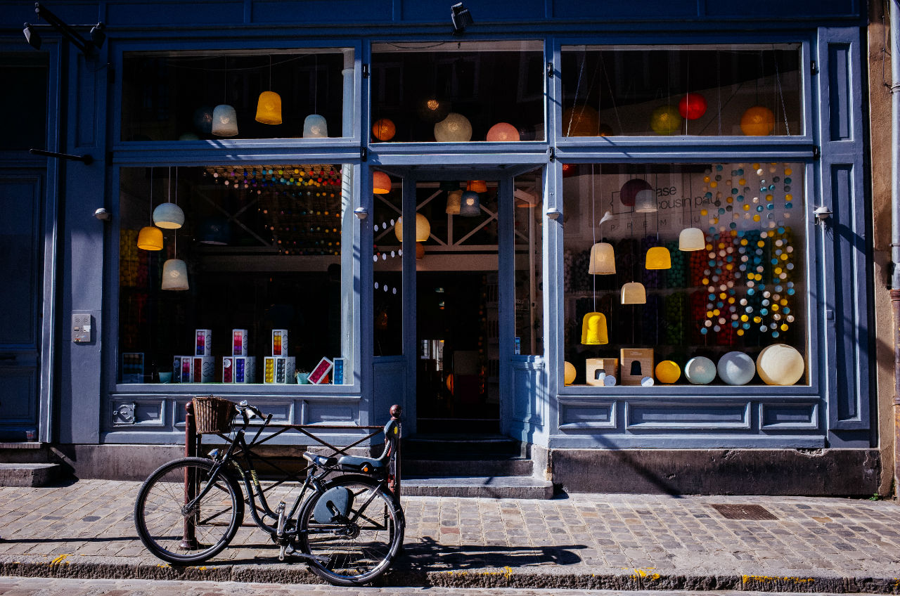 habillage façade magasin